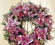 coroana funerara flori