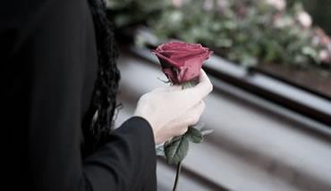 Floare, inmormantare